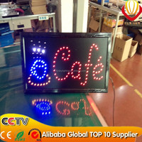 OEM cafe shop led sign board super bright catching eyes saving energy UL/BS/SAA/CE certificate plug