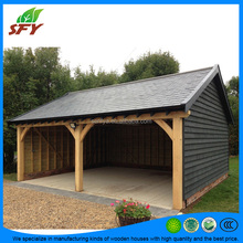 China factory of outdoor prefab wooden carport made of russia pine wood