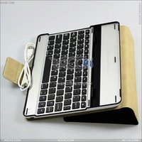 2014 Wholesale Alibaba Aluminum Bluetooth Keyboard Leather Case for iPad 2 3 4 P-iPAD3CASE034