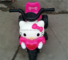 hello kitty plastic design children ride on toy/electric kids motorcycle ride on car