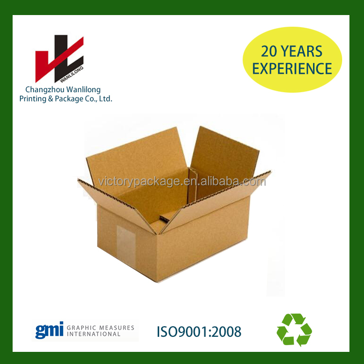 China Wholesale high quality cardboard corrugated paper Moving Boxes for Packing