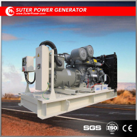 Open 640KW 800KVA Blue / Red / White 0.8 Power factor Diesel Generator