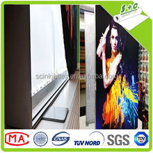China textile facory produced high quality low cost warp knitting white stretch backlit fabric for dye sub