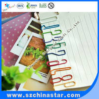 Stationery products giant paper clip clear plastic material
