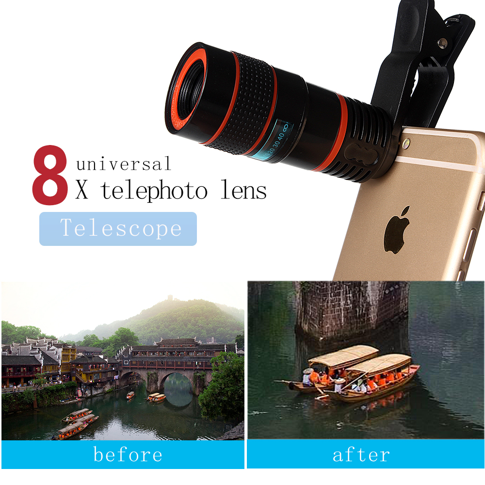 mobil phone telescope 8X telephone optical zoom camera lens for cellphone