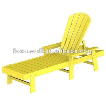 Wood south beach adirondack chaise lounge for leisure time for Chaise adirondak