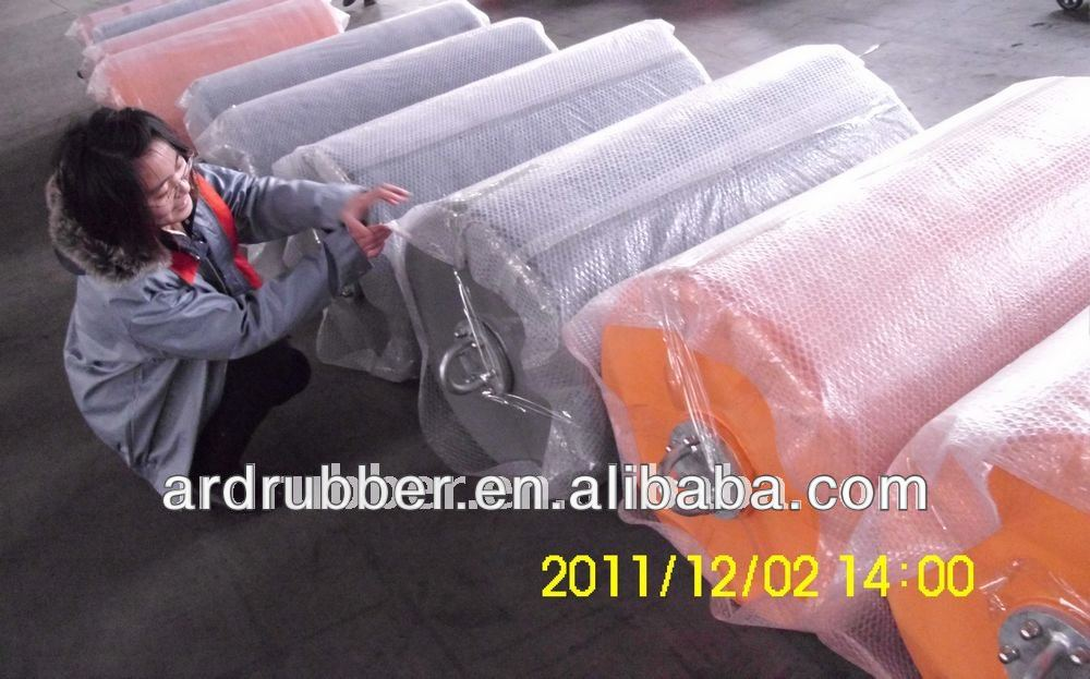 foam elastomer fender used for absorbing the kinetic energy of a boat berthing against a jetty