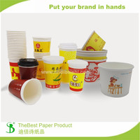 TheBest 400ml 500ml fast food take out Paper Bowl with your own design