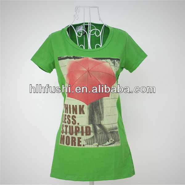 2013 summer style womens screen print t shirts