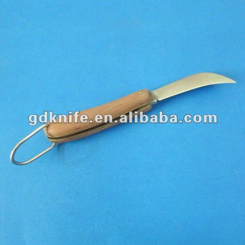 Color wood curved blade small banana machete knife