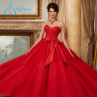 OEM Service Crystal Sashes Bow Wholesale Quinceanera Dresses