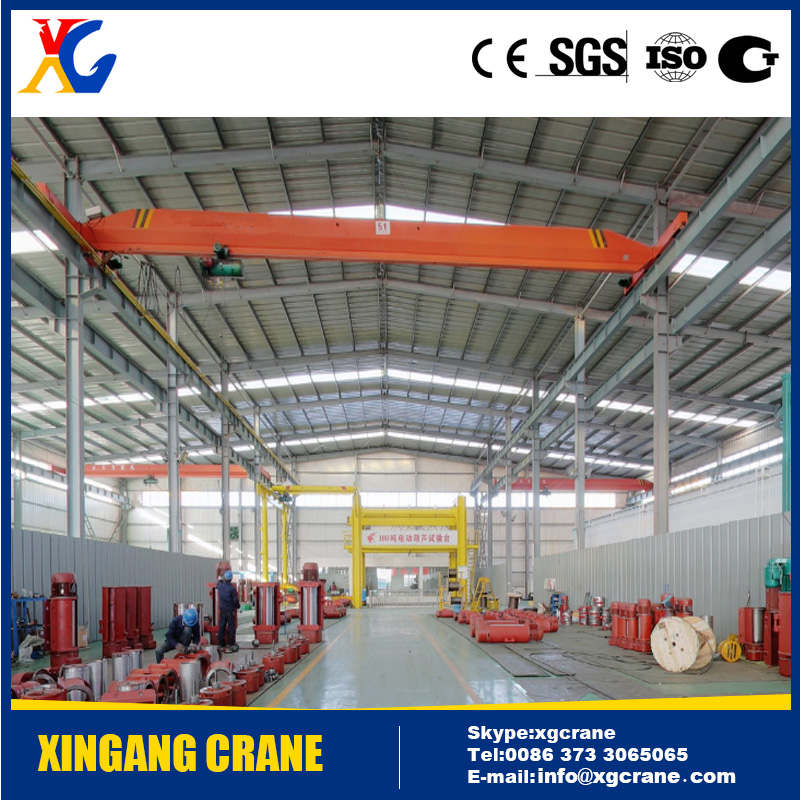 2016 new design 20 ton overhead bridge crane for workshop