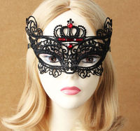 Dancing party princess mask,Japan half face vizor,crystal decorative crown masks