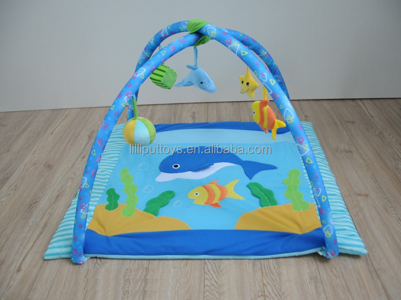 Non-Toxic 100% Cotton Soft Baby Play Mat infant toy mat