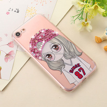 Lovely girl fashion silicone transparent phone case