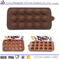 Factory Hot Selling freezer proof silicone ice tray Personalized custom silicone small rose shape ice cube tray