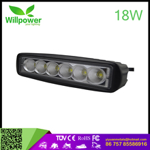 Cheap led light bars 18w 6 inch led car roof rack light bar crazy led lights