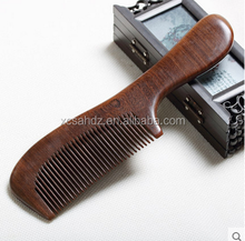 2017 Wholesale Black Sandalwood Fine Tooth Hair Comb