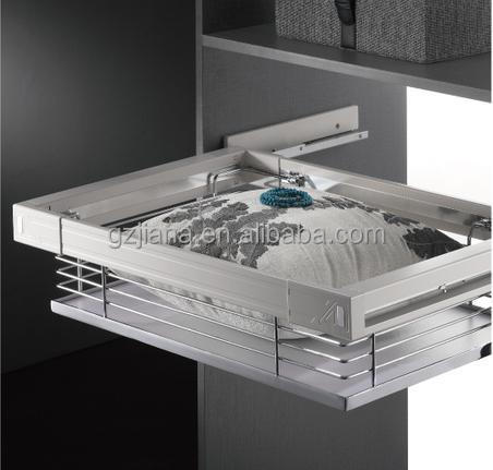 Guangzhou hardware storage wire basket with soft close for wardrobe