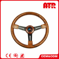 Universal car accessories 54mm dish 350mm suede race steering wheel