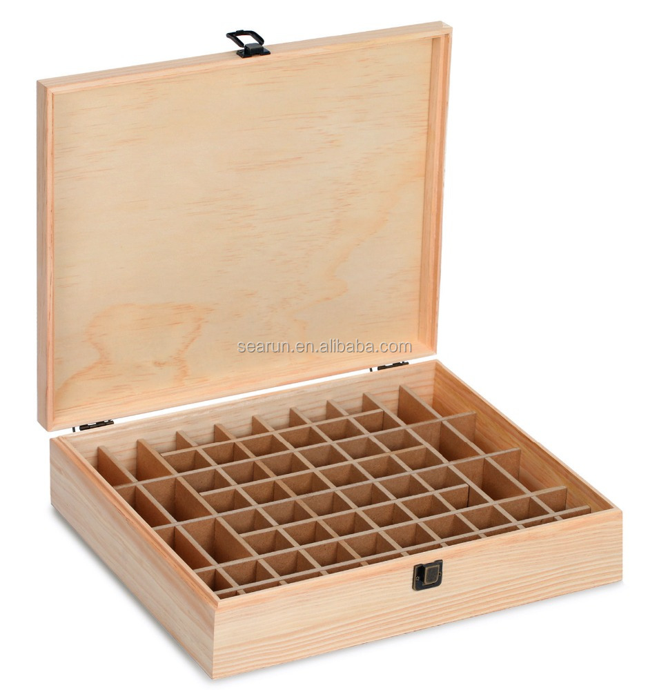 Essential Oil Wooden Box Organizer Wood Holds 68 Roller Bottles 10ml and 15ml Bottles Quality Wooden Storage Case