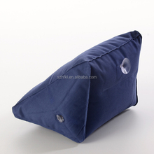 TRIANGLE SHAPED travel pillow inflatable window sleep wedge pillow