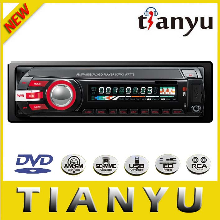 Red power car dvd with remote control/ aux