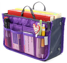 Purse Insert Organizer Expandable with Handles Cosmetic Pouch Toiletry Bags for Travel