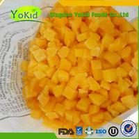 Frozen Organic Iqf Yellow Peach Sliced Diced