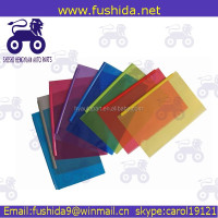 Transparent Color a5 size file folder with Plastic Bar