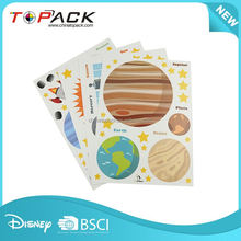 Top sale excellent quality home cartoon planet wall sticker