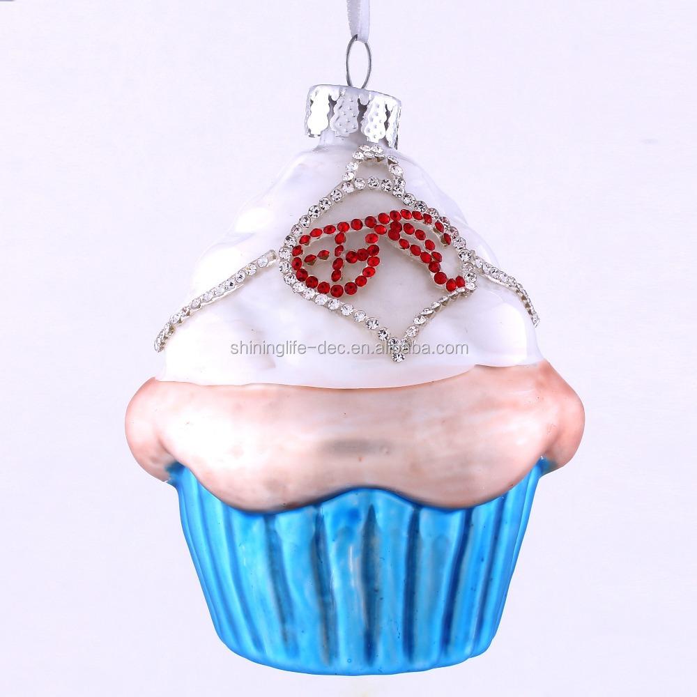 Cupcake glass hanger ornament buy