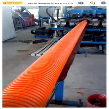 pe double wall plastic hdpe corrugated pipe underground cable protection pipe