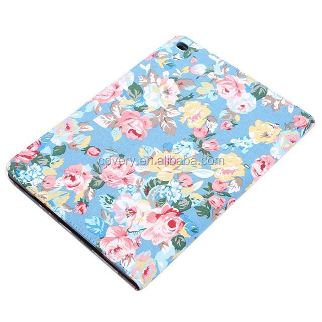 tablet pc case, For ipad series cover case , flower pattern leather case for ipad