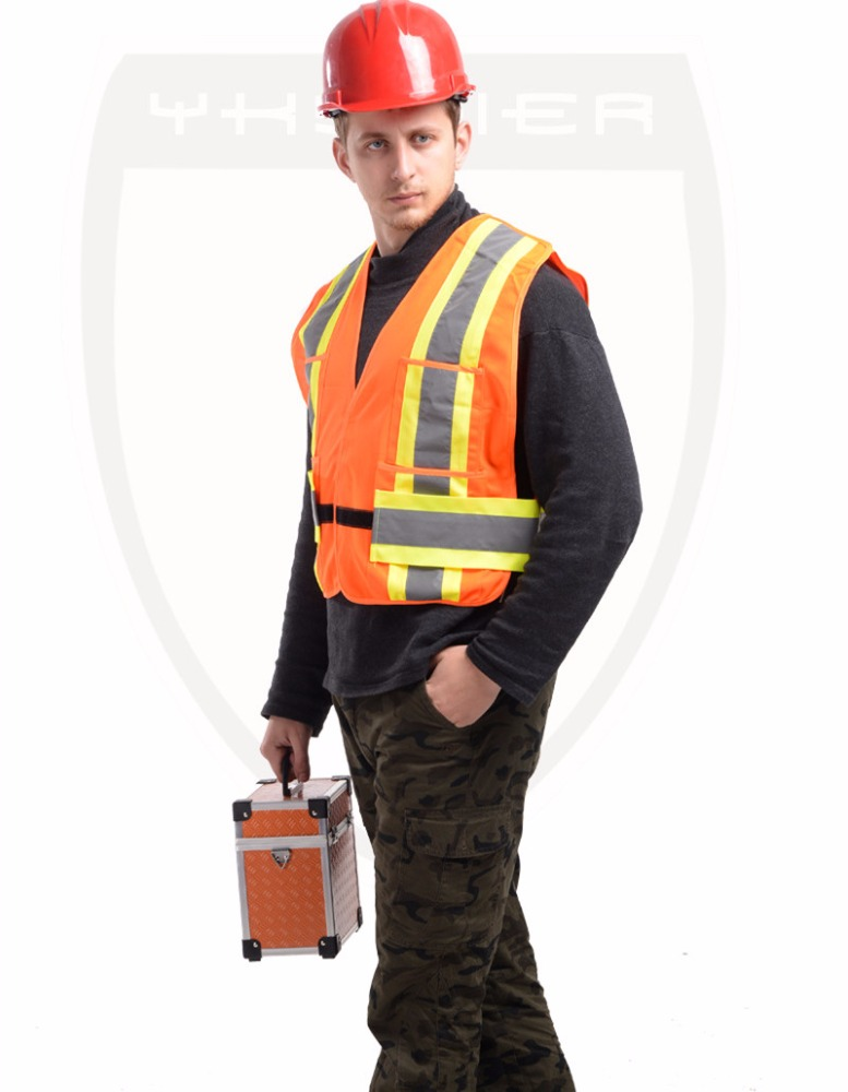 wholesale roadway hi vis safety reflective vest with pockets