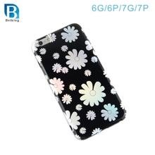 Hot sale TPU Back Cover Mobile Phone Laser Case for iPhone 7 7plus 6 6plus