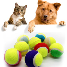 8cm Dog Ball for Pet Chew Toy Pet Dog Puppy Tennis Ball Thrower Chucker Ball Launcher Play Toy