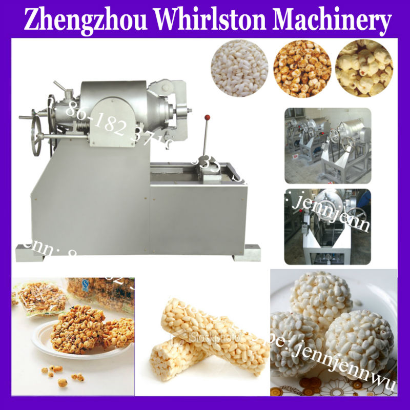 CE approved corn puffing machine/maize popping machine/popcorn maker for sale