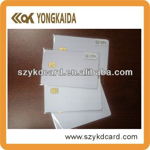 Full color print SLE5542 contact smart card with factory price