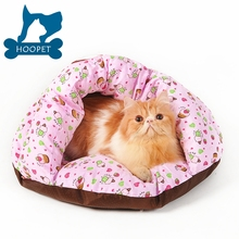 Hot Sale Qualified Cozy Pink Flower Pet House Pet Products Cat Bed
