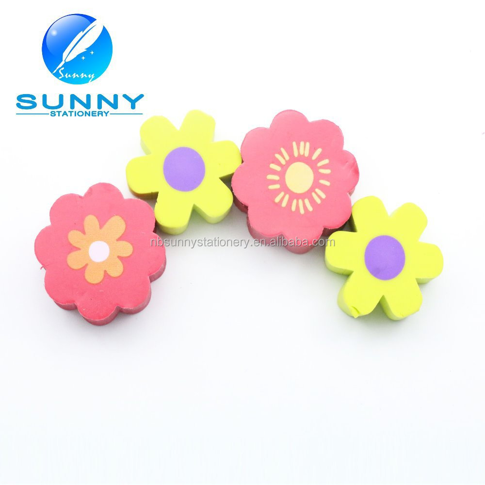 Lovely preety eraser flower shaped eraser for kids