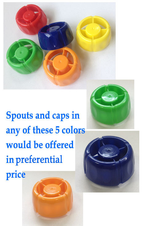 Custom Shape Bags Top Spout Child Choking Proof Plastic Screw Cap From China