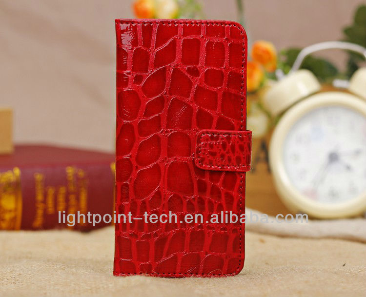 CROCO Stand PU Leather Case For iPhone5c