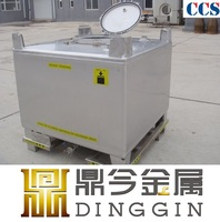 UN certificate stainless steel ibc tote bin for storage and transportation