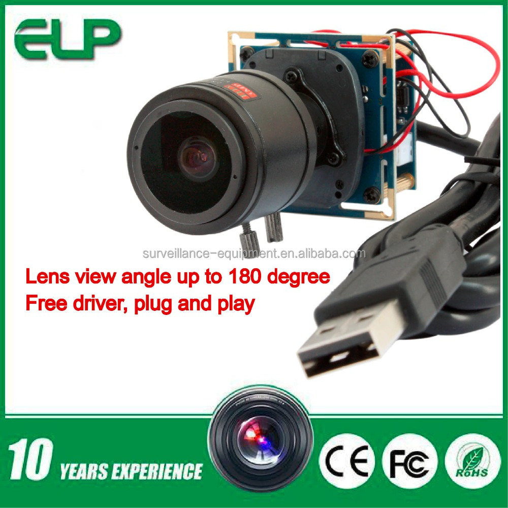 2megapixel 1080p 2.8-12mm varifocal lens OmniVision OV2710 usb cmos camera module for equipment manufacturers