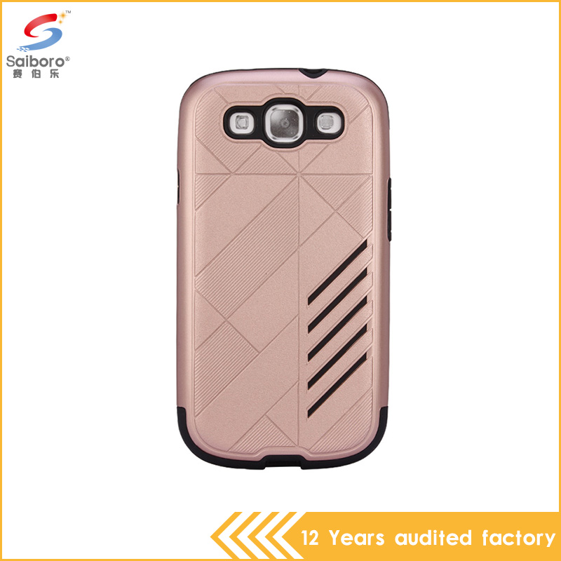Hot new style TPU With PC armor design shockproof cellphone case for samsung galaxy s3 case