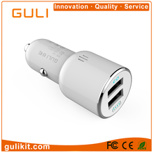 OEM/ODM smart dual USB car charger 5V 2.4A USB,portable car battery charger