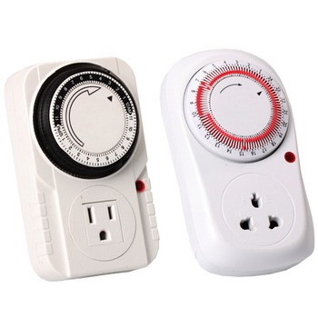 24 Hour Heavy Duty Plug-in Mechanical Timer Grounded Analog Timer, 120 Volt, Surge Protection; Heavy Duty Construction