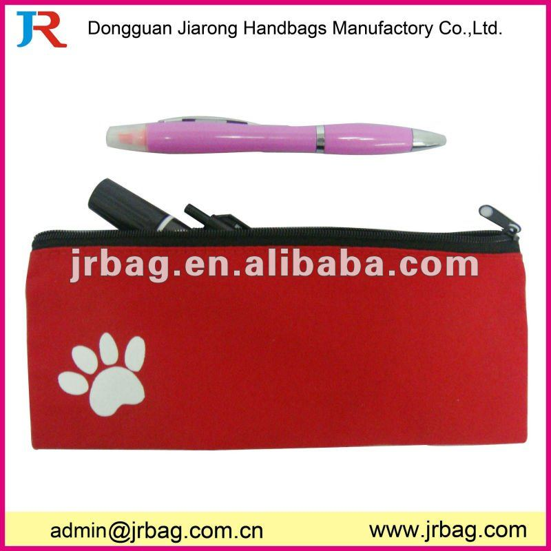 2011 hot sale e-friendly canvas pencil case bag