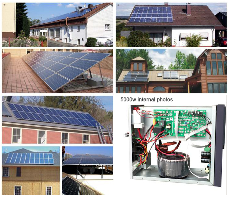 Energy saving 5kw on-grid/off-grid solar energy systems for small homes